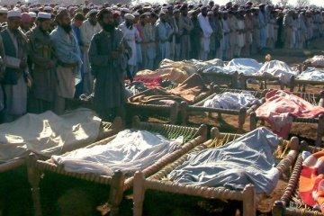Enterrement de victimes civiles d'attaques de drones américains au Pakistan