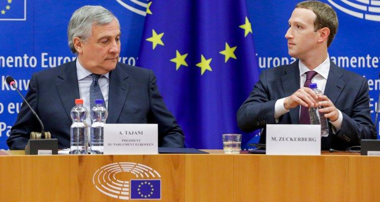 Antonio Tajani et Mark Zuckerberg