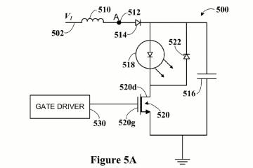 Circuit présenté dans le brevet US9368936B1 de Waymo sur le lidar