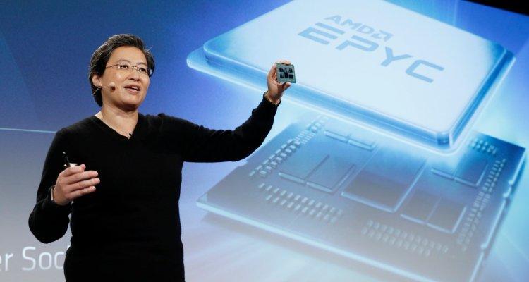 Dr. Lisa Su, CEO d'AMD, présente le processeur Rome