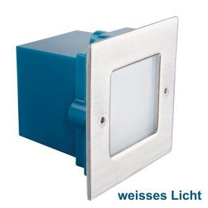 LED Wandeinbauleuchte 230V 2700K warmweiß