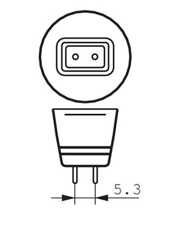 Helle MR16 GU5.3 12V LED 7W = 50W