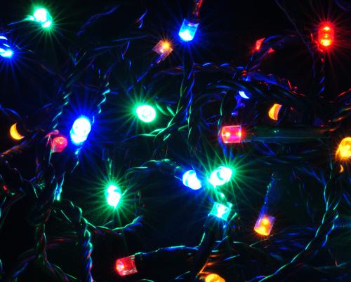 LED Lichterkette bunt, farbig mit 120 LEDs