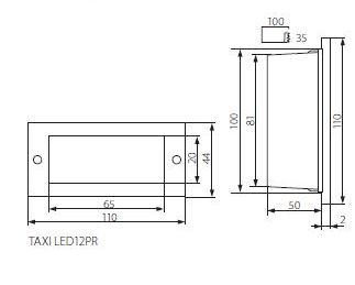 Abmessungen LED Treppenstrahler