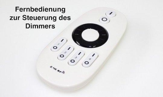 Funk Fernbedienung programmierbar Controller / Dimmer 12V - 24V Wifi 4 Zonen