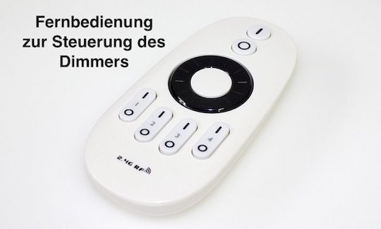 Funk Fernbedienung programmierbar Controller / Dimmer 12V - 24V 4 Zonen