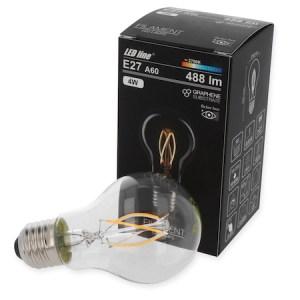4W E27 LED Birne Filament 488 Lumen 2700 Kelvin