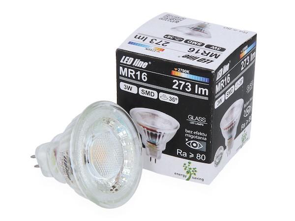 3W LED 2700K warmweiss CRI RA 80