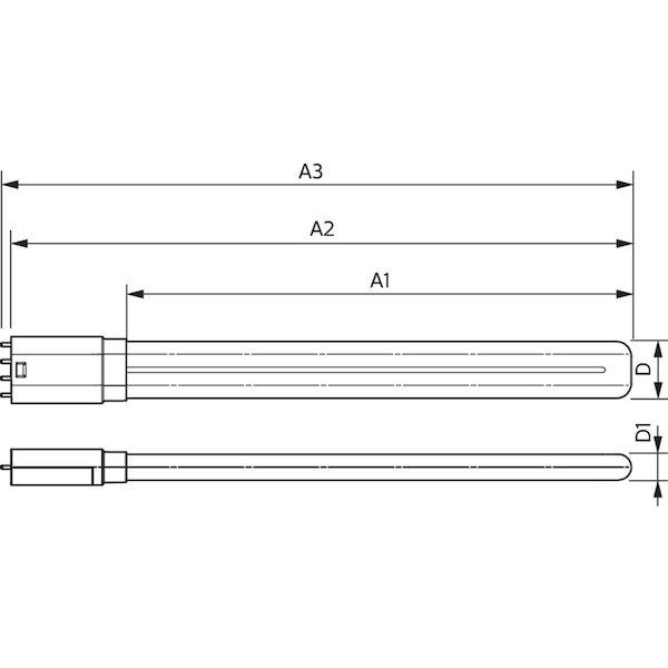 Technische Zeichnung Philips PLL EVG 4P