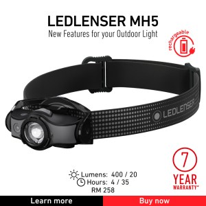 Ledlenser Headlamp MH5 Outdoor product image