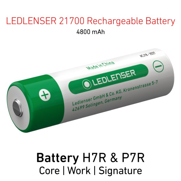 Ledlenser 21700 Rechargeable Battery