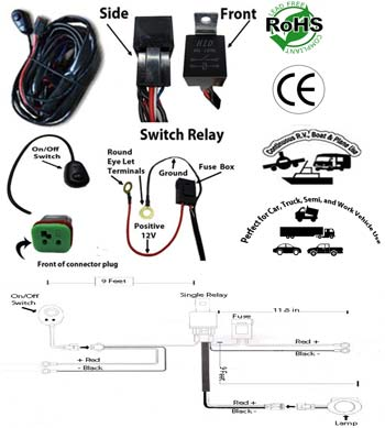 led light bar work light wiring kit single channel low voltage 12 volt