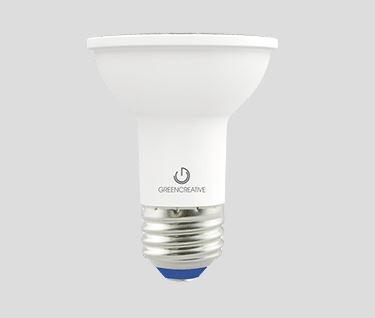 green creative value select par20 bulb 5 5 watt e26 base 40 beam angle wet location 120v dimmable