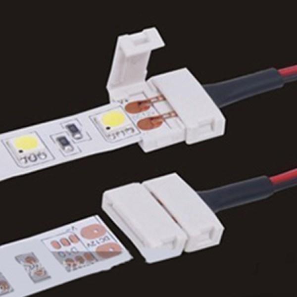 4 PZ Connettore 10mm Per Chiudere Striscia Led Smd 5050 Senza Saldare