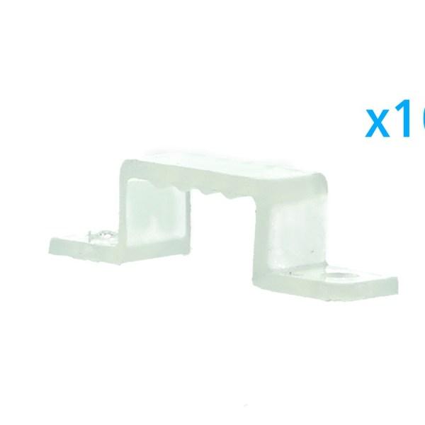 10 PZ Clip Fissaggio Rigido Passo 14X7 mm Per Fissare Bobina Striscia Led Impermeabile