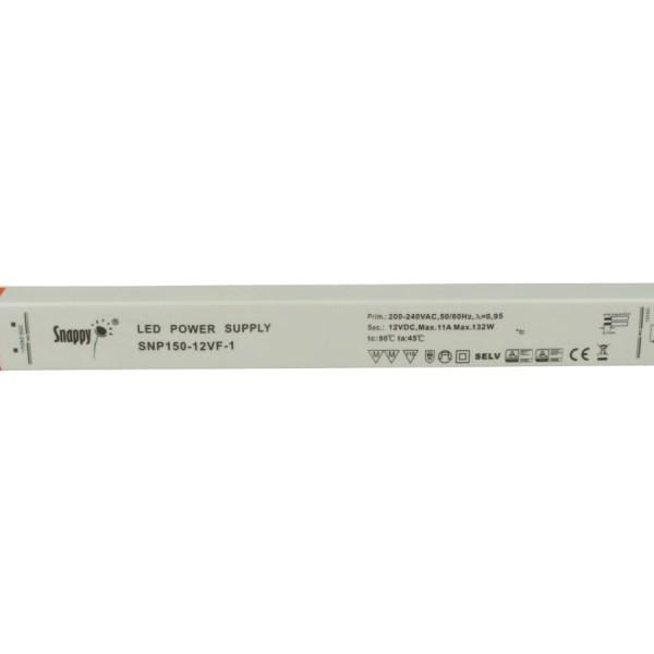 Alimentatore Ultra Slim Sottile 132W 12V Snappy SNP150-12VF-1 Trasformatore CV Per Striscia Led Profili Alluminio