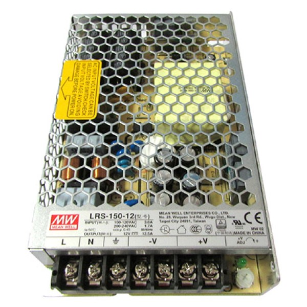 Alimentatore MeanWell CV 150W 12,5A LRS-150-12 Trasformatore Da AC 220V A DC 12V Per Prodotti Led