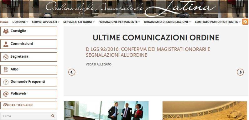 Nuovo portale dell'Ordine degli Avvocati di Latina
