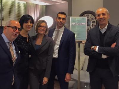 Pesaro - I relatori del Convegno, al centro l'avv. Annamaria Romeo del foro di Latina