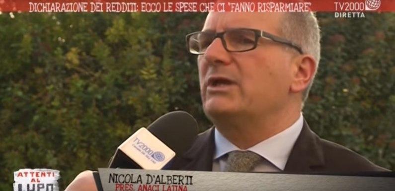 ANACI Latina a TV 2000 con il Presidente D'Alberti: quali i costi di casa detraibili?