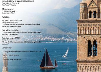 Anaci per Sicurezza nel Condominio e Responsabilità dell'Amministratore: convegno 6 maggio a Gaeta sulla