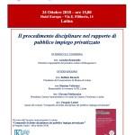 LED Events * 24 Ottobre a Latina: Diritto disciplinare e il mondo del Pubblico Impiego - Intervista all'Avvocato Pasquale Lattari