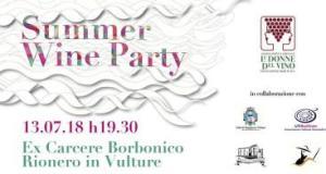 SUMMER WINE PARTY degustazione @ Ex carcere Borbonico   Rionero In Vulture   Basilicata   Italia