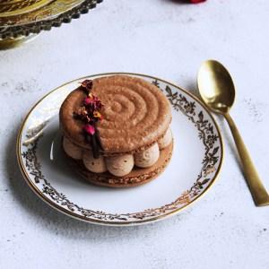 le doux fruit patisserie artisanale montpellier macaron impérial chocolat framboise