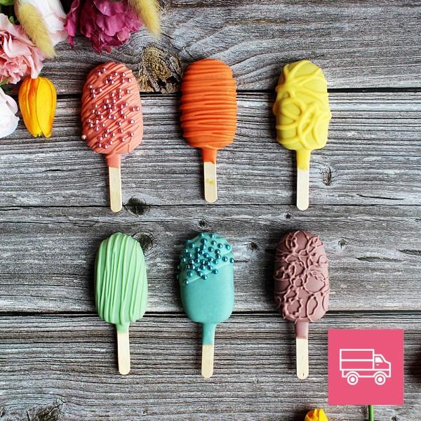 le doux fruit patisserie artisanale montpellier cakepops paques multicolors livraison france