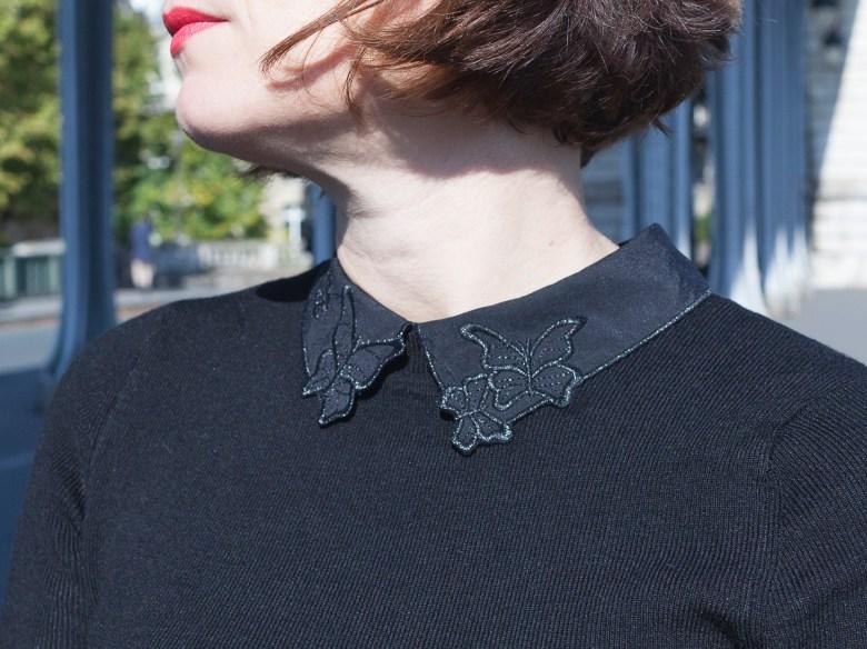jean mom perfecto paris zara noir naf naf tout eiffel mode blog blogueuse papillons