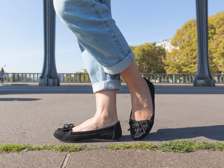jean mom perfecto paris zara noir naf naf tout eiffel mode blog blogueuse mocassins chaussures