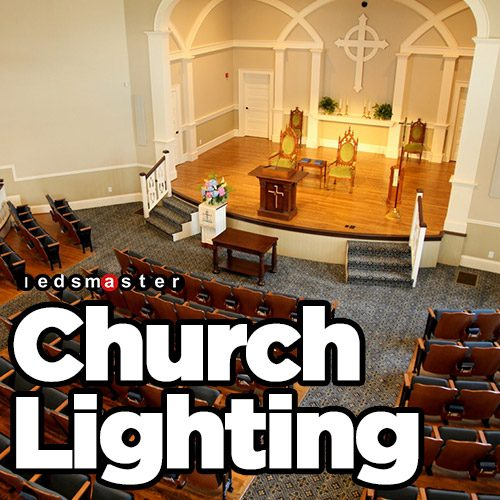 led flood lights for church and