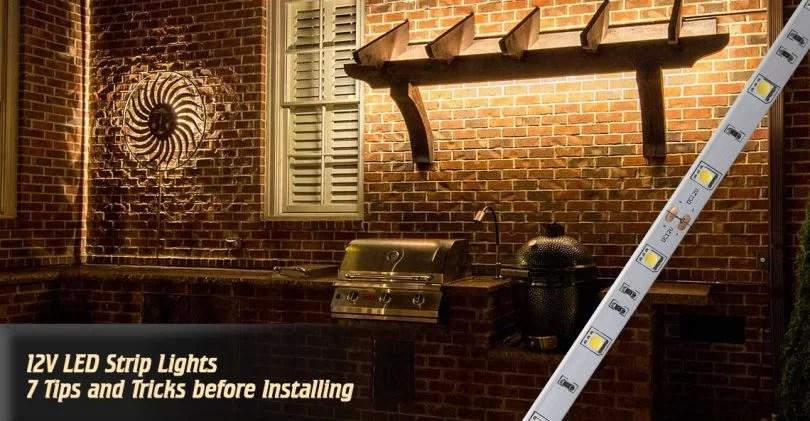 installing 12v led strip lights