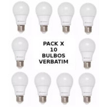 pack 10 bombitas led verbatim