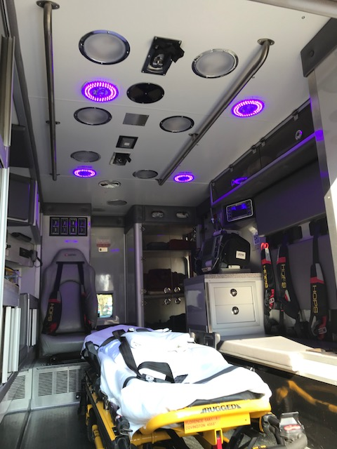 EMS Patient Compartment Disinfection
