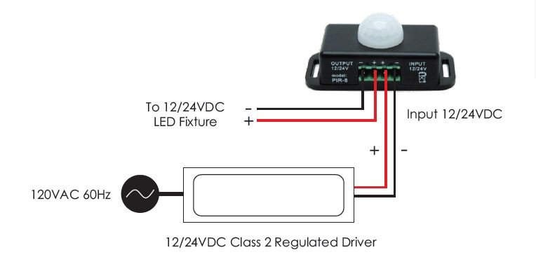 Low Voltage Motion Sensors Switch Ln-spir-1ch