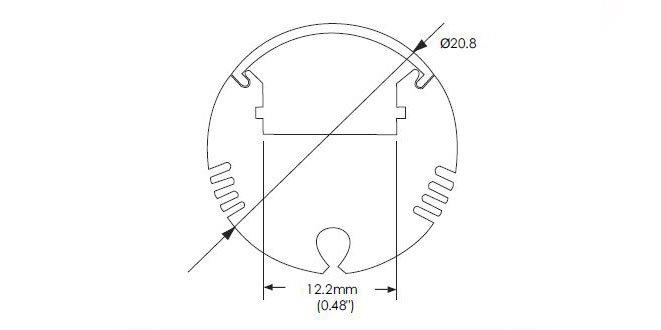 Aluminium LED Profile Round AC-R008