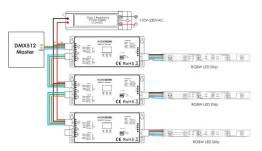 outdoor dmx 512 decoder hueda h-2102b(w)