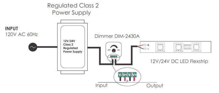 wiring diagram for led dimmer led low voltage mini dimmer dim 2430a led world lighting  led low voltage mini dimmer dim 2430a