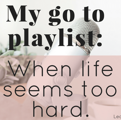 Sometimes life is wonderful, its sunshine, daisies, and clear skies. And other times life seems to be throwing lemons at you in every which direction. You feel stressed out and defeated. This is My go to playlist when life seems too hard.