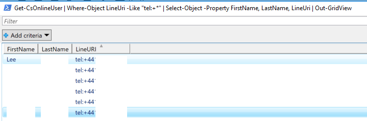 quick tip create sort able powershell list of voice users in skype