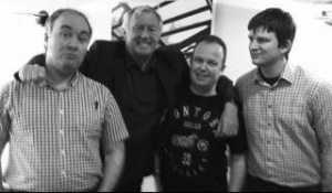 With Chris Tarrant, after interviewing him for