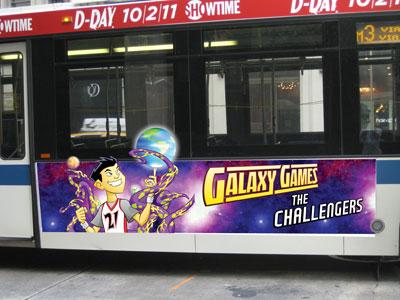 Galaxy Games Bus Advert
