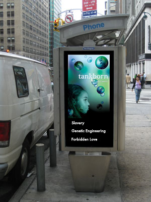 Tankborn phone booth advert