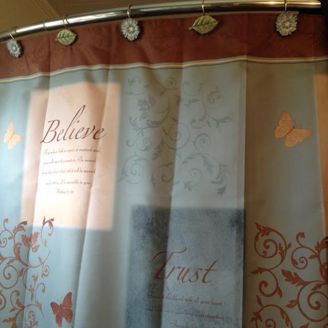 Shower Curtain Scripture Verses It