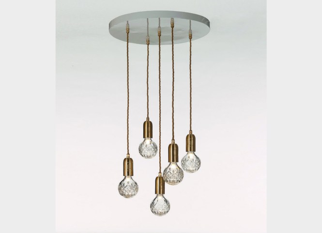 Crystal Bulb Clear Chandelier