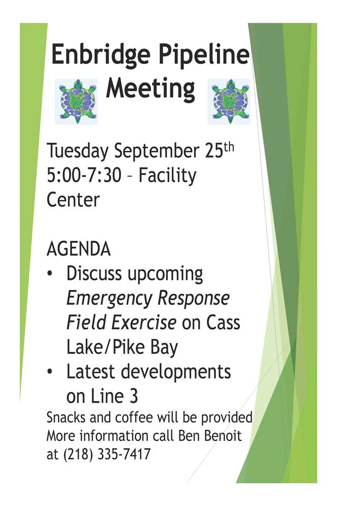 community meeting flyer 9 25 leech lake news