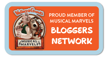 Wallace & Gromit's Musical Marvels bloggers badge