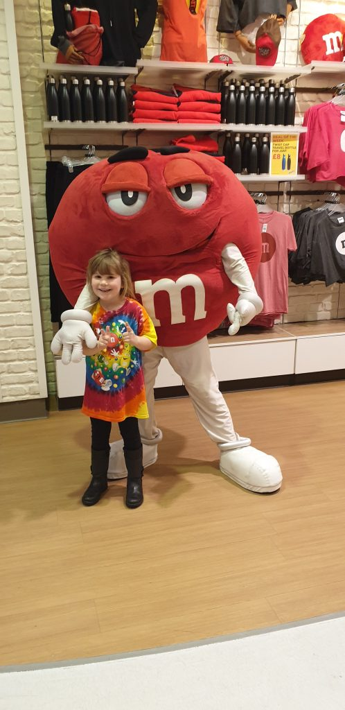 Photo opportunity at M&M's World