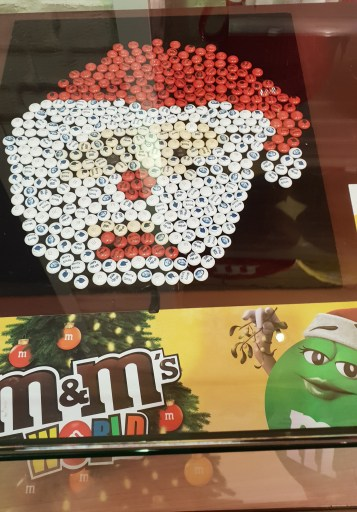 Santa in M&M's form!